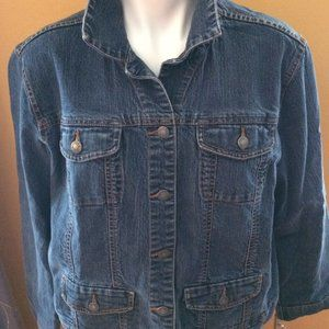 ADDITIONS BY CHICOS JEAN JACKET EUC SIZE 2*